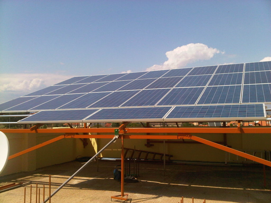 Three Phase 10kW solar array with 270w polycrystalline photovoltaic modules