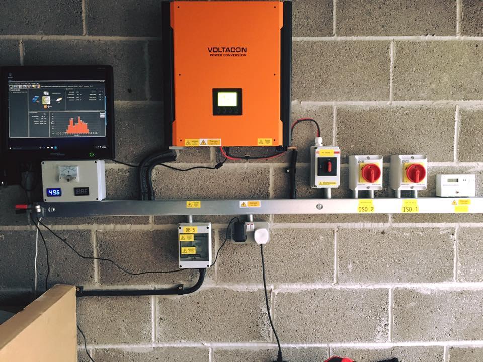 Hybrid Solar Off Grid Inverter Installed In Uk Voltacon