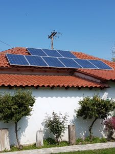 solar off grid system 5kva installed in retail shop in greece Solar Electric System Diagram there are 9 solar panels from eging with power rating 250watt each the panels are available here at very petitive prices only 165 for a brand