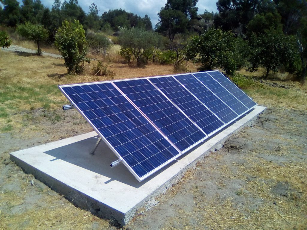 3kw off grid photovoltaic system installed in portugal. Black Bedroom Furniture Sets. Home Design Ideas