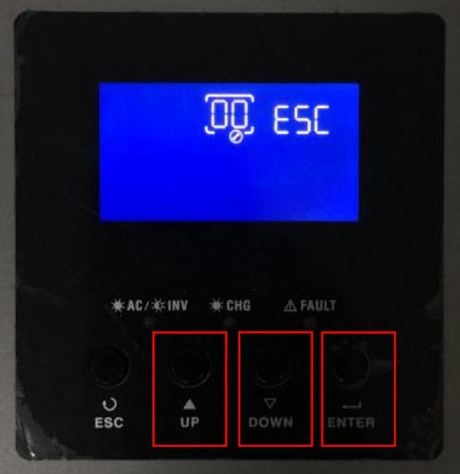 Conversol MKS 5KW Menu for Battery Settings