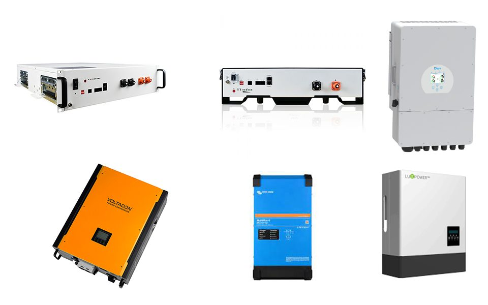 Off grid and hybrid inverters compatible with BMS Lithium Ion Batteries