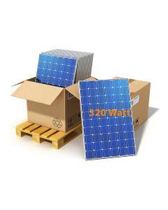 15 Solar Panels on a pallet, total power 3325Watt