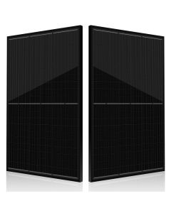 Great aesthetics for homes and residential areas, all black frame and 120 half cut cells. 330W with peak efficiency 20%. Stock and warranty support from our UK based company Voltacon