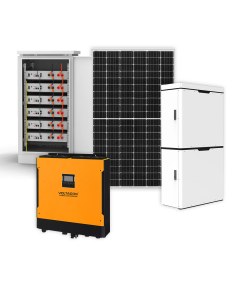 Solar PV Energy Storage System 5.5kW Inverter, Lithium Ion Batteries, 3.5kW Panels - Octopus
