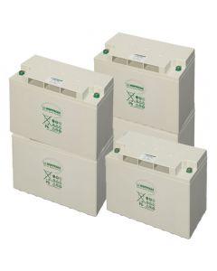 GEL BATTERY (AGM) Bank 6.4kWh 48V. 150Ah 4pcs 12V CELLS