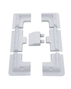 6 piece ABS mounting for a flat roof on caravans, motor homes, boats, and other flat smooth surfaces. It fits all kind of solar panels with aluminum frame