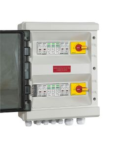 PV COMBINER DC SWITCH BOX 4-Way Input 2-Way Output. 500V