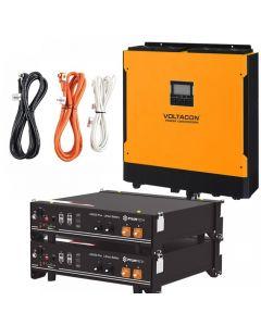 Voltasol Hybrid Inverter 5.5kW & Pylontech Lithium Battery - VL5P