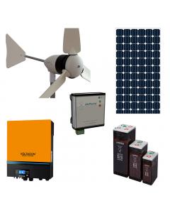 WS5000 Hybrid wind and solar off grid power generation