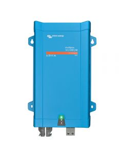 Smart off grid inverter, 1200VA 12V with integrated AC charging from the mains. An external solar MPPT charger is required if you install solar panels