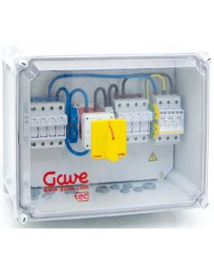 PV Combiner Box. 4Way in 1Way Out. With Surge Protection. 500VDC
