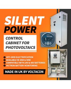 Silent Power 3024, Off Grid Inverter Charge Kit 3000Watt, Plug 'n' Play Photovoltaic Control Cabinet