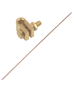 Earthing rod 4ft with clamp and wire