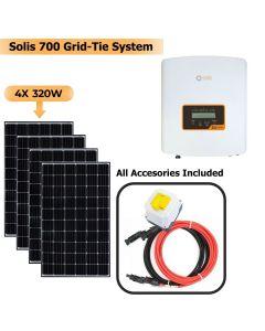 Solis 1000W Grid Tie System with Solar Panels 4x 320W