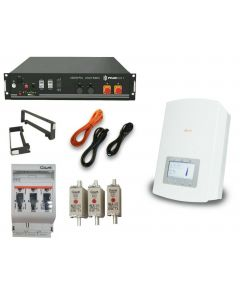 Solis Hybrid Inverter, batteries, fuses and cables