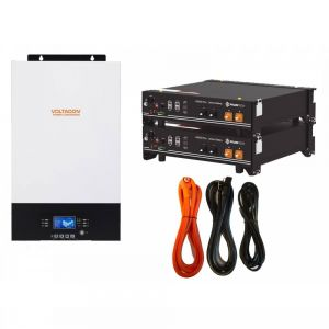 Pylontech US2000 4.8kWh Lithium with 5kW Off Grid Inverter Charger MPPT 48V
