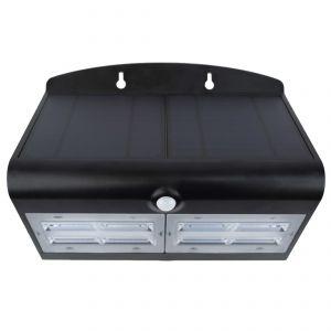 Specter - LED Solar Power Wall Light - Black
