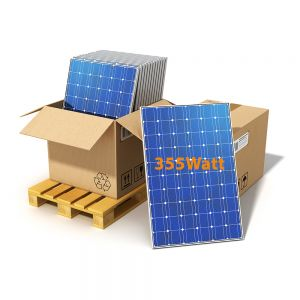Pallet of ET-Solar PERC Half Cut Cell Monocrystalline Solar Panels 355W