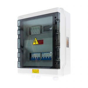 Three Phase AC Protection Enclosure 10kW, Surge Protection & Energy Meter