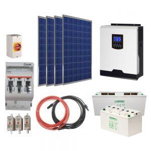 RV Off-Grid Solar Kit 1000W 12V. AGM Batteries. V-Basic Power