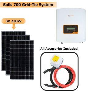 Solis 700W Grid Tie System with Solar Panels 3x 320W