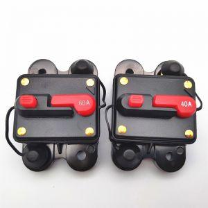 Waterproof Manual Reset DC Circuit Breaker Inline Fuse Invert 30-300 Amp 12V-24V