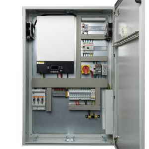 Silent Power SP5048-B-P, PLUG 'N' PLAY PHOTOVOLTAIC CONTROL CABINET Off Grid Inverter Charger Kit 5000Watt