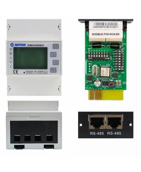 Smart Energy Meter SDM630 & Modbus Card Server