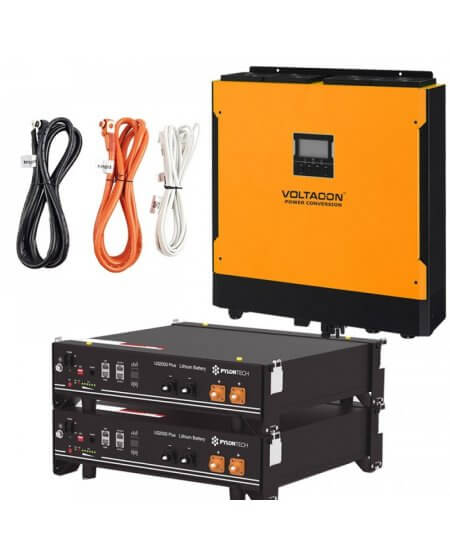 Voltasol Hybrid Inverter 5.5kW & Pylontech Lithium Battery - VL5P