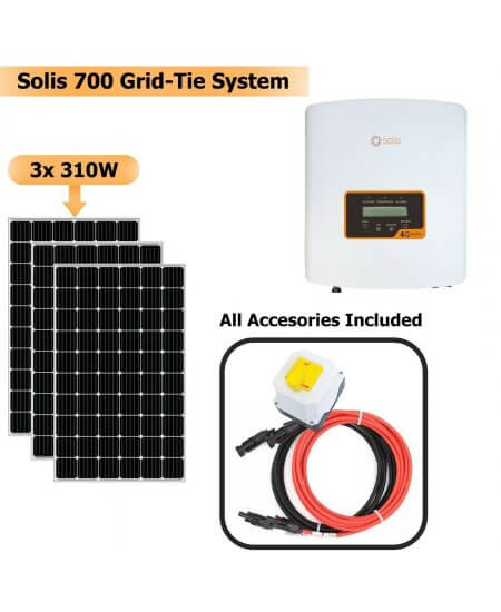 Solis 700W Grid Tie System with Solar Panels 3x 310W