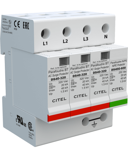 CITEL Surge Protection Devices 40kA, Pluggable module for each phase