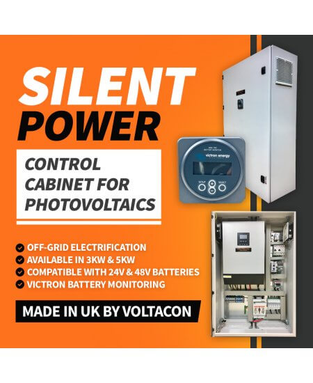 Silent Power SP1048, Off Grid Inverter Charger Kit 10000Watt, PLUG 'N' PLAY PHOTOVOLTAIC CONTROL CABINET