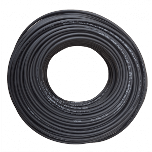 Solar cable 4mm in black. Double Insulation. 100m drum