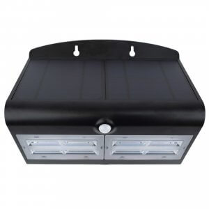 Specter - LED Solar Power Wall Light - Black