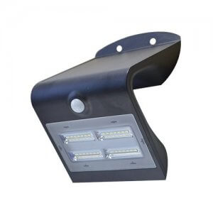 Mini-Specter - 3.2W LED Solar Power Wall Light - Black