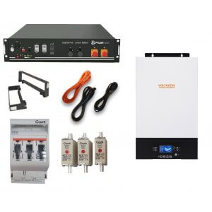 Pylontech US2000 Lithium with 5kW Off Grid Conversol V5 Charger MPPT 48V
