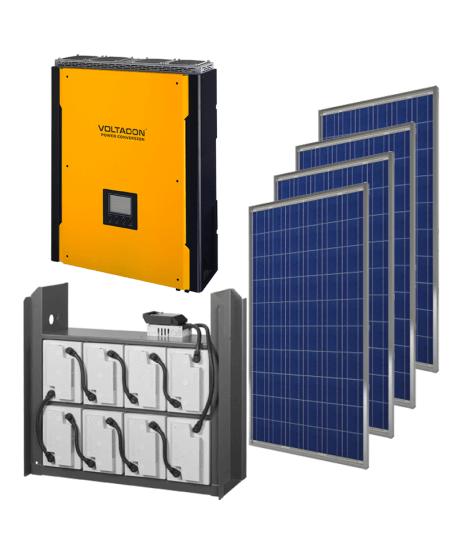 Voltasol Hybrid Energy Storage System 6.4kWh. Super S4 Inverter 4kW