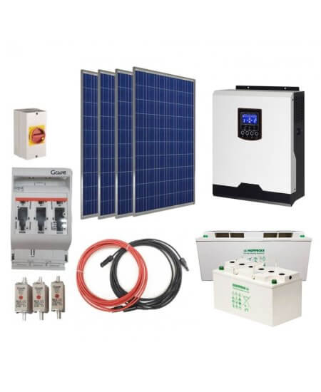 1200W 12V Solar Off Grid Mini Kit