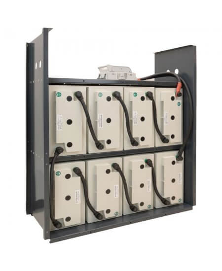 Hoppecke 11kWh cabinet with 8x 250Ah AGM batteries.