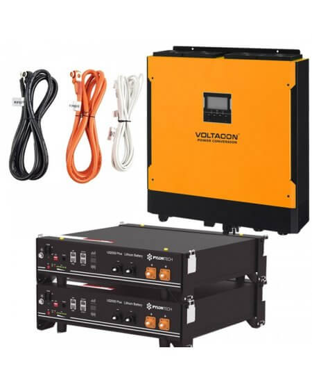 Voltasol Hybrid Inverter 3KW & Pylontech Lithium Battery -VL3P