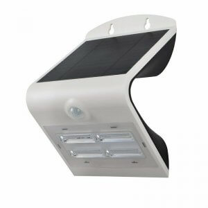 Mini-Specter - 3.2W LED Solar Power Wall Light - White